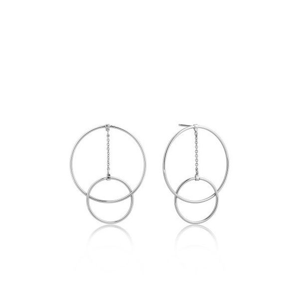 Sterling Silver Modern Front Hoop Earrings By Ania Haie Orin Jewelers Northville, MI