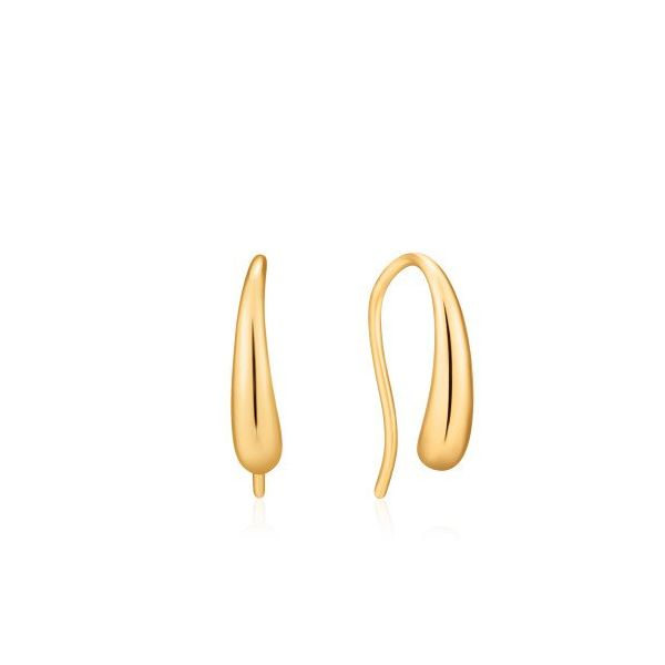Sterling Silver Gold Plated Luxe Hook Earrings By Ania Haie Orin Jewelers Northville, MI
