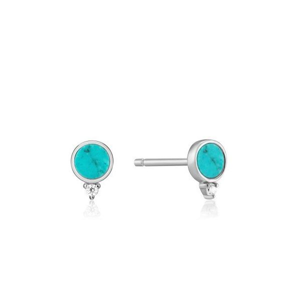 Sterling Silver Turquoise Stud Earrings By Ania Haie Orin Jewelers Northville, MI