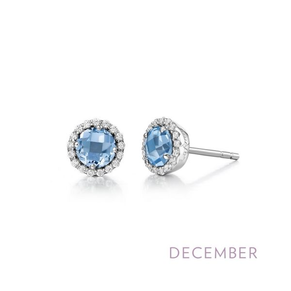 Sterling Silver Blue Topaz & CZ Earrings Orin Jewelers Northville, MI