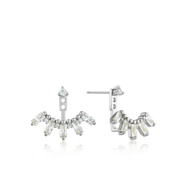 Silver Cluster Ear Jackets by Ania Haie Orin Jewelers Northville, MI