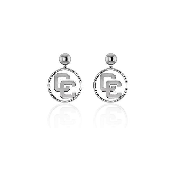 Sterling Silver Open Circle CC Dangle Earrings Orin Jewelers Northville, MI