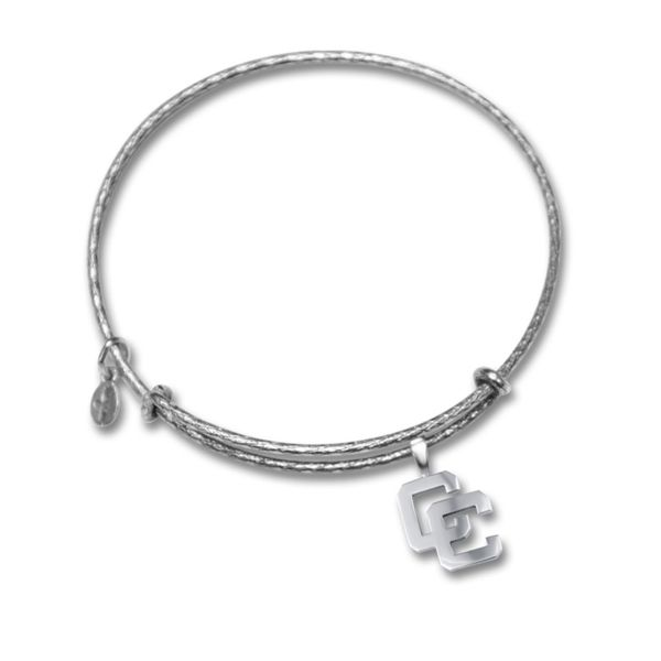 Lady's Expandable Wire Bangle W/Sterling Silver CC Dangle Charm Orin Jewelers Northville, MI