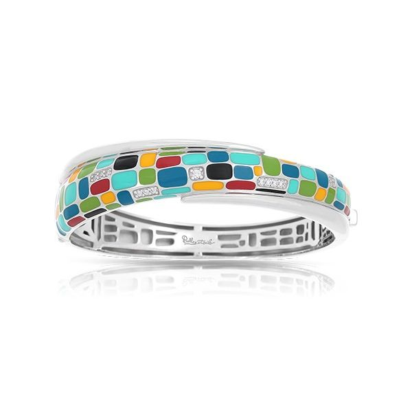 Sterling Silver Mosaica Bracelet With Multi-Color Enamel & Cubic Zirconias Orin Jewelers Northville, MI