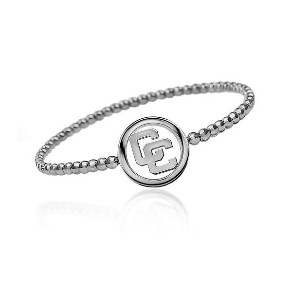 Sterling Silver Beaded Bracelet With Open Circle CC Charm Orin Jewelers Northville, MI