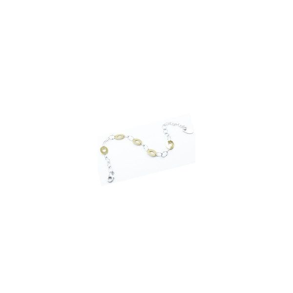 Sterling Silver And Yellow Gold Plated Oval Delight Bracelet Orin Jewelers Northville, MI