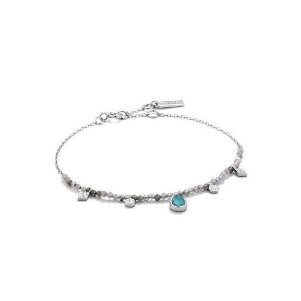 Sterling Silver Turquoise And Labradorite Bracelet By Ania Haie Orin Jewelers Northville, MI
