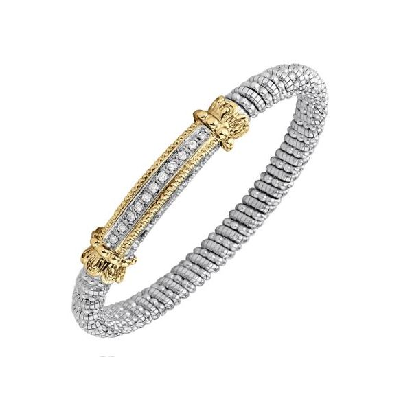 Sterling Silver & 14k Gold Bracelet With 11 Diamonds Orin Jewelers Northville, MI