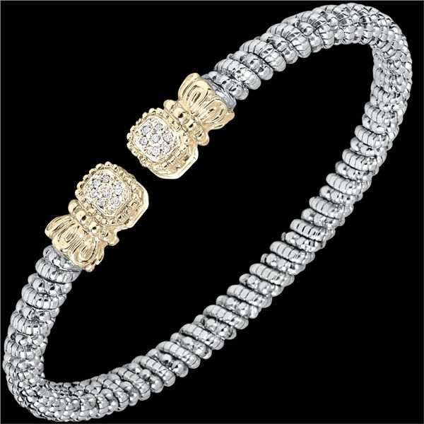 Sterling Silver & 14K Yellow Gold Bracelet With 14 Diamonds Orin Jewelers Northville, MI