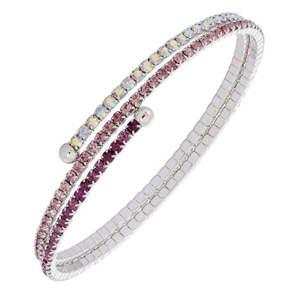Gradient Tones Crystal Bracelet, 2 Row White Orin Jewelers Northville, MI