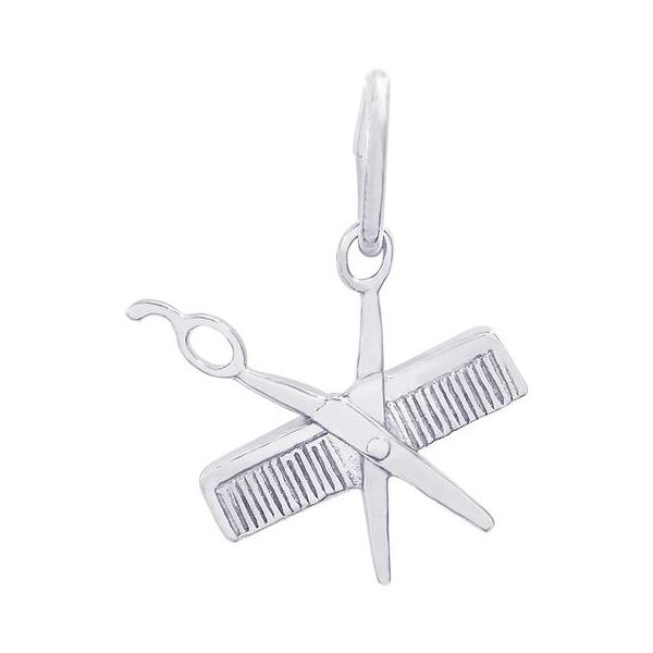 Sterling Silver Comb & Scissors Charm Orin Jewelers Northville, MI