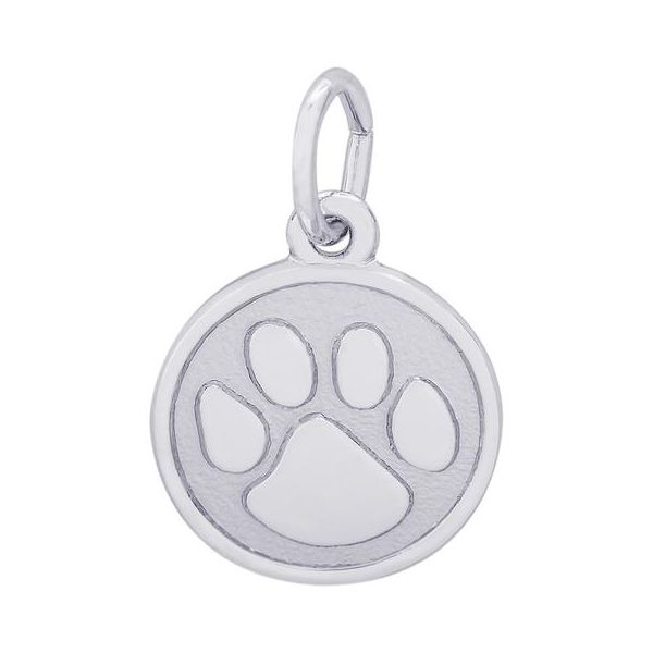 Sterling Silver Paw Print Charm Orin Jewelers Northville, MI