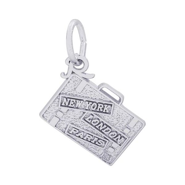 Sterling Silver Suitcase Charm Orin Jewelers Northville, MI