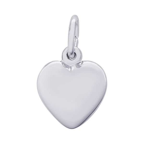 Sterling Silver Puffed Heart Charm Orin Jewelers Northville, MI