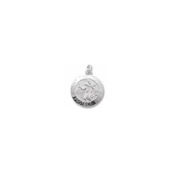 Sterling Silver St. Christopher Charm Orin Jewelers Northville, MI