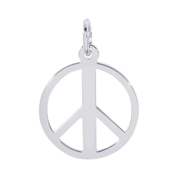 Sterling Silver Peace Symbol Charm Orin Jewelers Northville, MI
