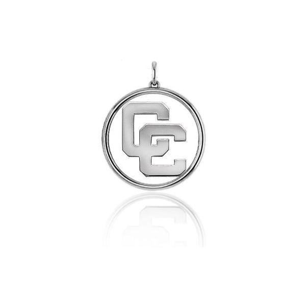 Sterling Silver Open Circle CC Pendant, Small Orin Jewelers Northville, MI