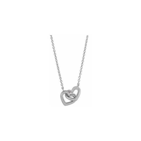 Sterling Silver Interlocking Heart Necklace Orin Jewelers Northville, MI