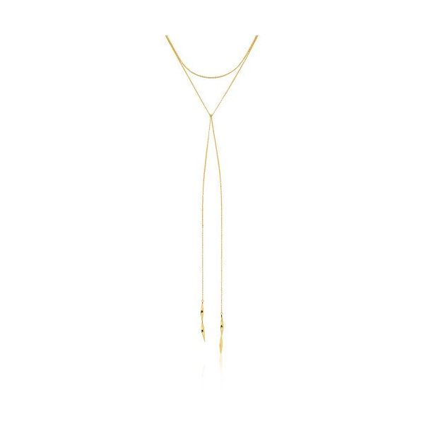 Sterling Silver Gold Plated Helix Lariat Necklace by Ania Haie Orin Jewelers Northville, MI