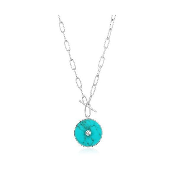 Sterling Silver Turquoise T-Bar Necklace By Ania Haie Orin Jewelers Northville, MI