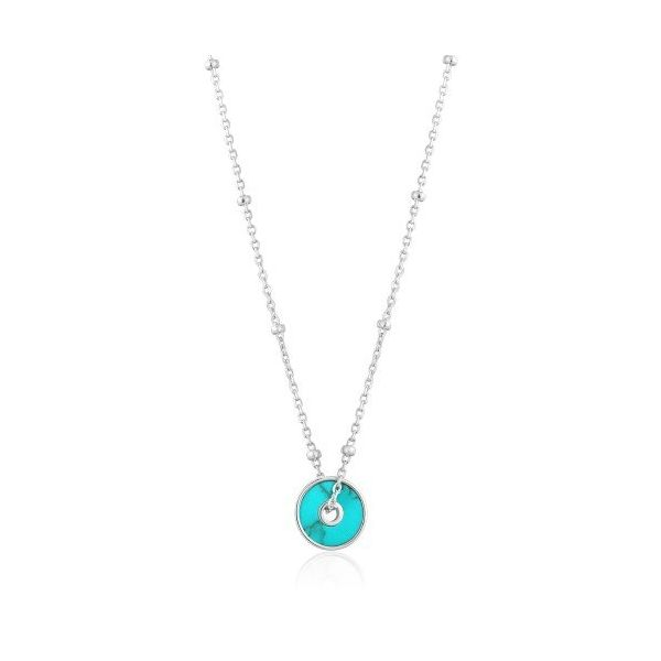 Sterling Silver Turquoise Disc Necklace By Ania Haie Orin Jewelers Northville, MI