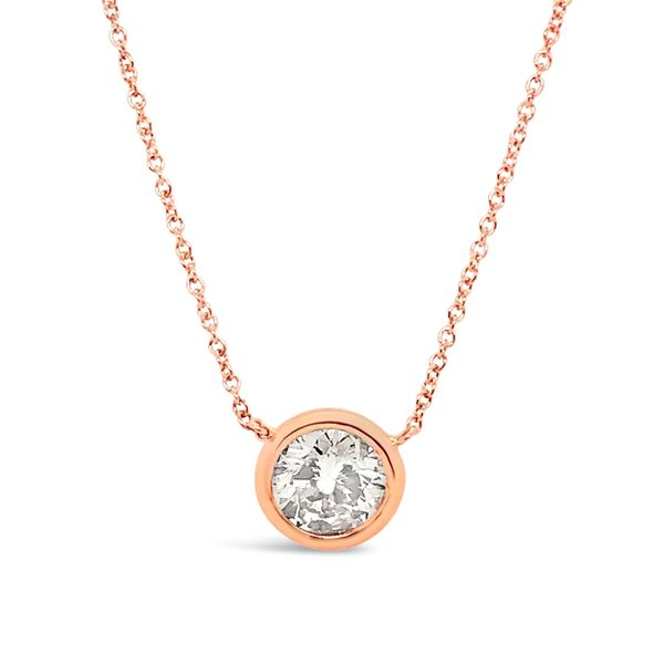 Round Brilliant Diamond Solitaire Pendant Padis Jewelry San Francisco, CA