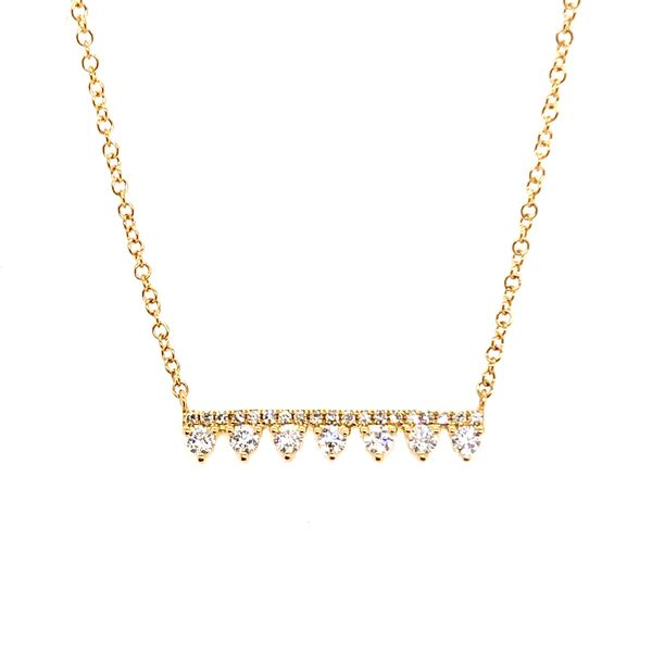 14KT Yellow Gold Bar Necklace Padis Jewelry San Francisco, CA