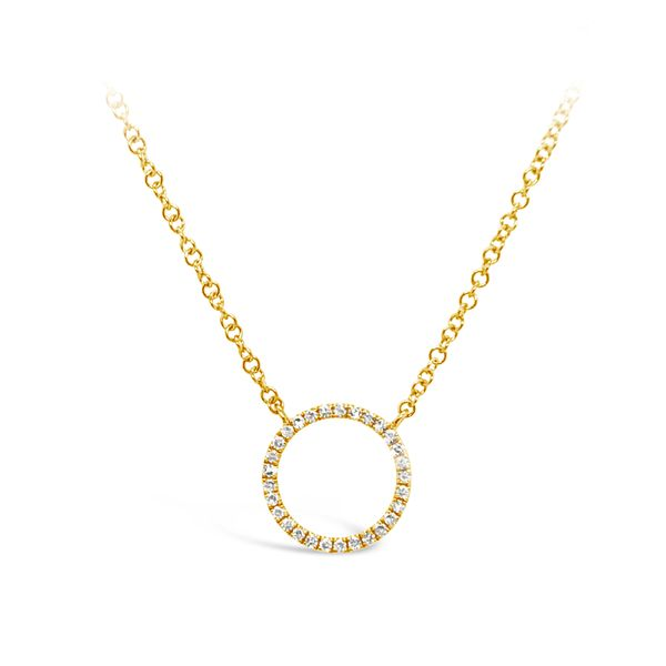 Yellow Gold & Diamond Circle Necklace Padis Jewelry San Francisco, CA