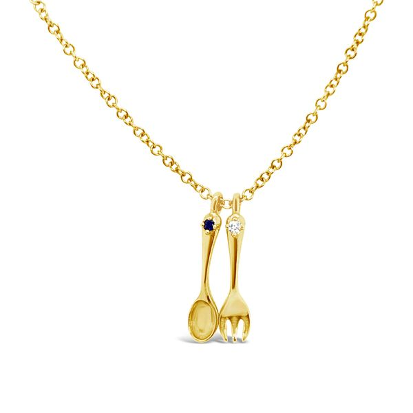 Yellow Gold and Diamond Charm Necklace Padis Jewelry San Francisco, CA