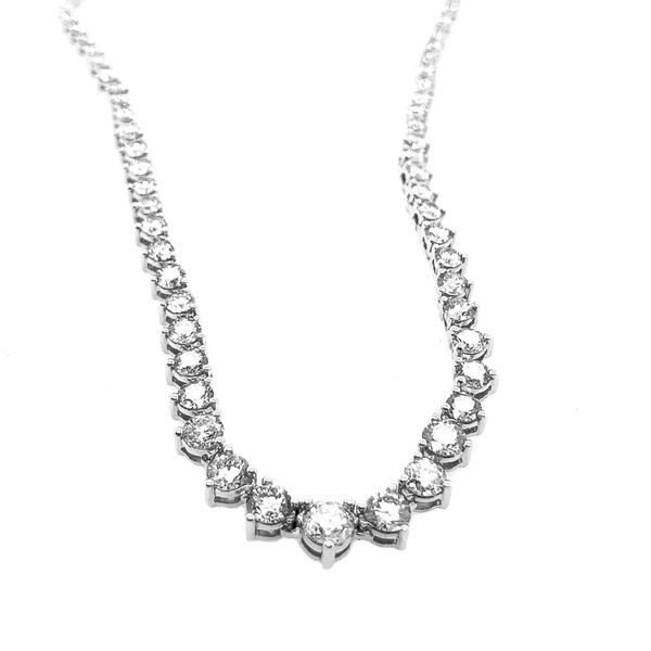 Ladies' White Gold Diamond Tennis Necklace Padis Jewelry San Francisco, CA
