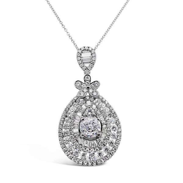 18KT White Gold Diamond Pendant Padis Jewelry San Francisco, CA