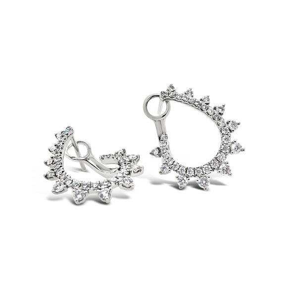 18K White Gold Fashion Diamond Earrings Padis Jewelry San Francisco, CA