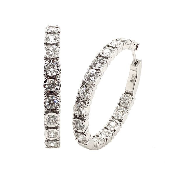 Ladies' Diamond Hoop Earrings Padis Jewelry San Francisco, CA