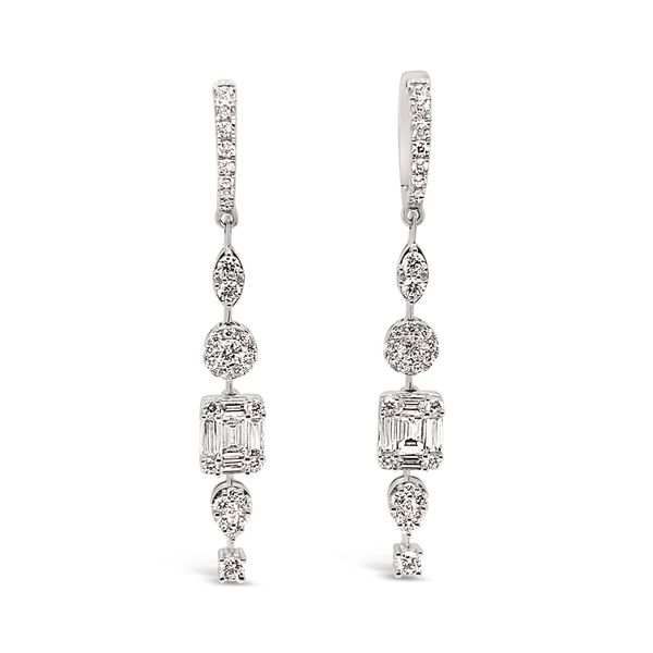 1.73 Cttw. 18KW Gold Diamond Earrings Padis Jewelry San Francisco, CA