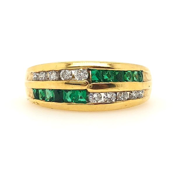 Emerald and Diamond Band Padis Jewelry San Francisco, CA
