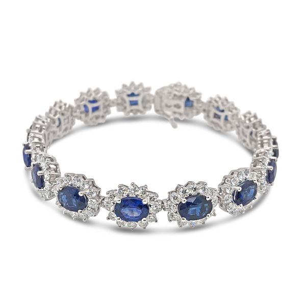 18KW Gold Sapphire and Diamond Bracelet Padis Jewelry San Francisco, CA