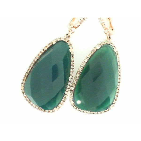Green Agate Drop Earrings Padis Jewelry San Francisco, CA