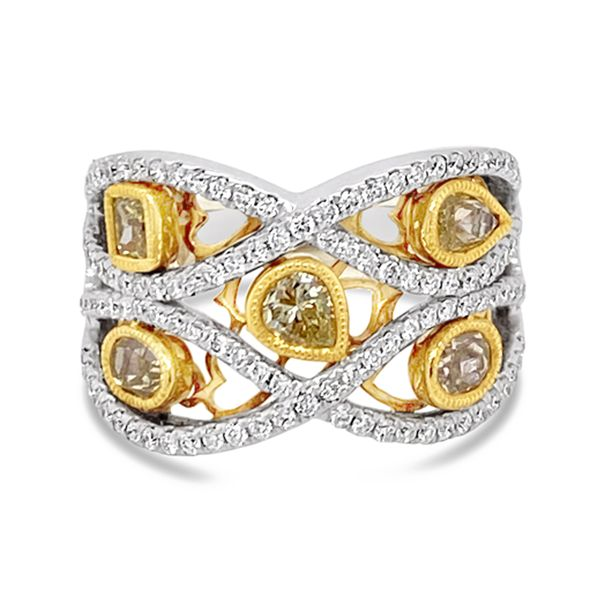 Yellow Diamond Fashion Band Padis Jewelry San Francisco, CA