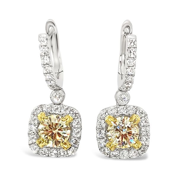 Fancy Yellow Diamond Earrings Padis Jewelry San Francisco, CA