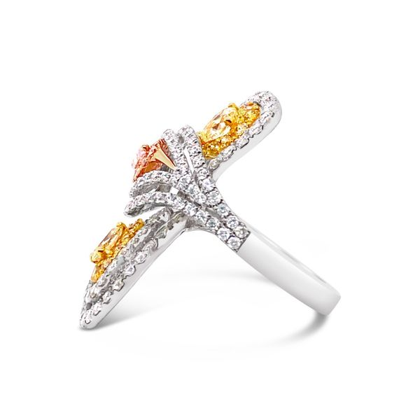 Fancy Yellow and Pink Diamond Fashion Ring Image 2 Padis Jewelry San Francisco, CA