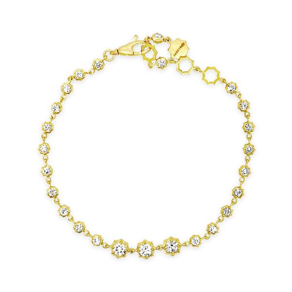 Ladies' 18K Yellow Gold Forevermark Diamond Line Bracelet Padis Jewelry San Francisco, CA