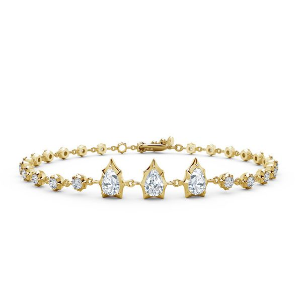 Ladies' 18K Yelliow Gold Forevermark Diamond Envoy Line Bracelet Padis Jewelry San Francisco, CA