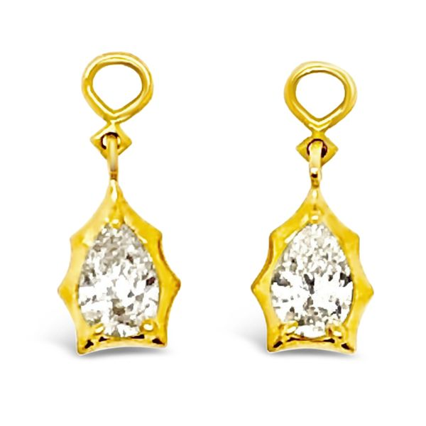 Ladies' 18K Yellow Gold Forevermark Diamond Envoy Drop Earring Jackets Padis Jewelry San Francisco, CA