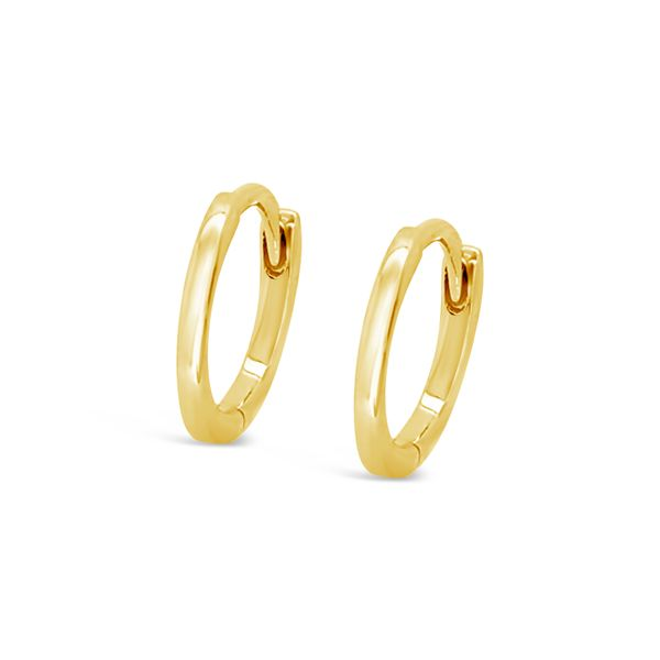 14K Yellow Gold Plain Huggie Earrings Image 2 Padis Jewelry San Francisco, CA