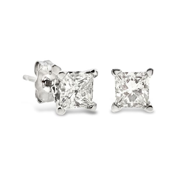 1.80ctw Cushion Cut Diamond Stud Earrings Padis Jewelry San Francisco, CA