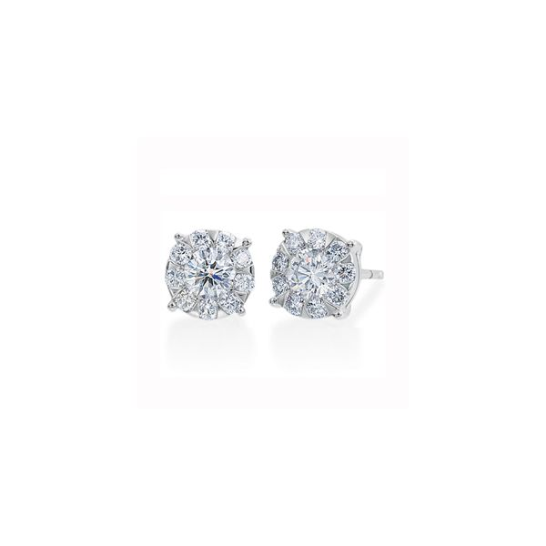 Forevermark Diamond Cluster Earrings Padis Jewelry San Francisco, CA