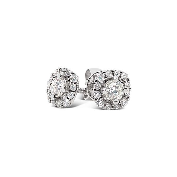 Forevermark Diamond Halo Earrings Padis Jewelry San Francisco, CA