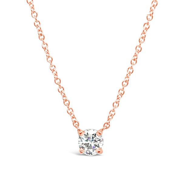 14KT Rose Gold Solitaire Pendant Padis Jewelry San Francisco, CA