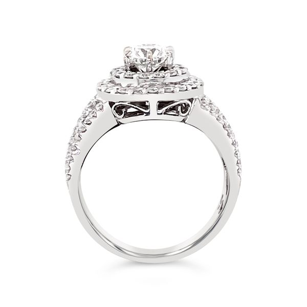 Forevermark Halo Engagement Ring Image 2 Padis Jewelry San Francisco, CA