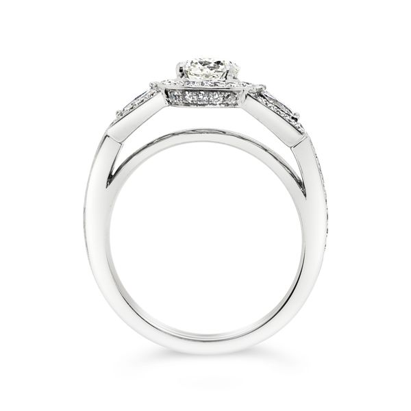 Forevermark Three-Stone Halo Engagement Ring Image 2 Padis Jewelry San Francisco, CA